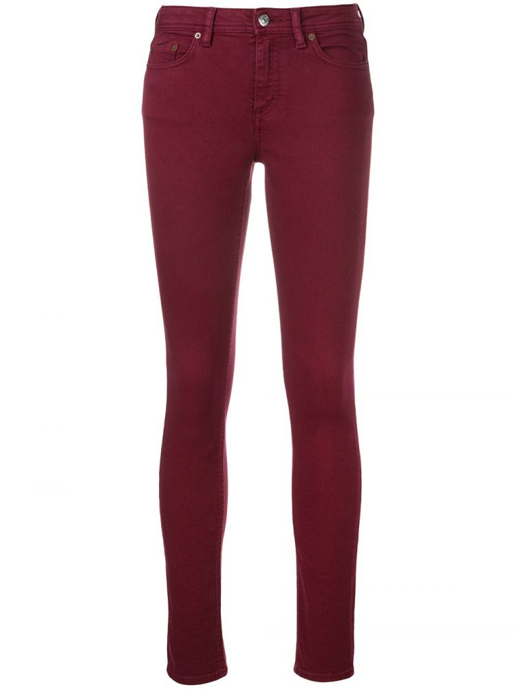 Image Acne Studios Climb Stretch Jeans - Rood