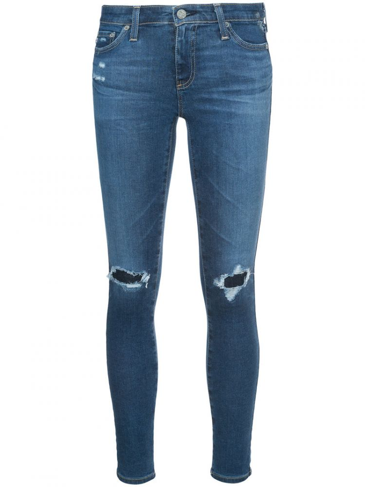 Image Ag Jeans - Distressed Skinny Jeans - Women - Cotton/polyethylene - 26