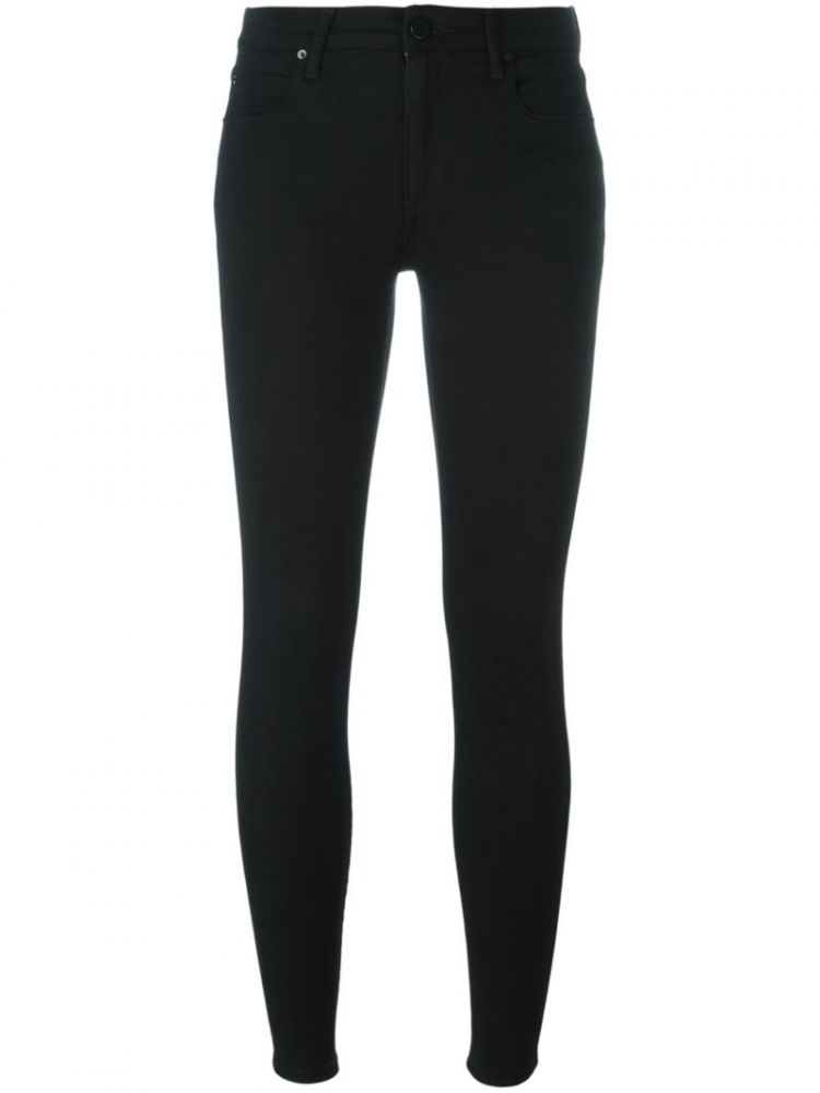 Image Alexander Wang - Cropped Skinny Jeans - Women - Cotton/polyester/spandex/elastane/lyocell - 26