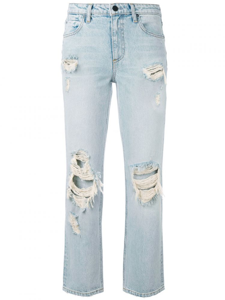 Image Alexander Wang - Destroyed Cult Straight-leg Jeans - Women - Cotton - 28