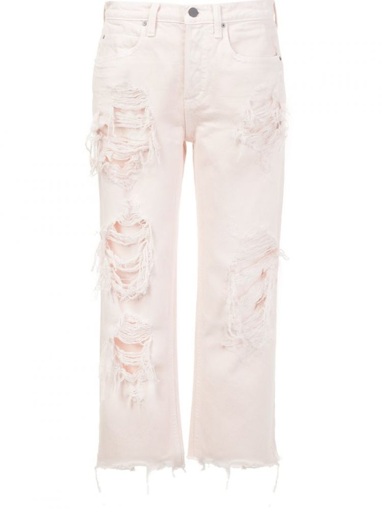 Image Alexander Wang - Distressed Cropped Jeans - Women - Cotton - 28
