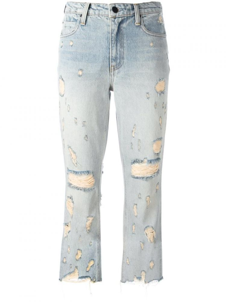 Image Alexander Wang - Distressed Cropped Jeans - Women - Cotton - 29