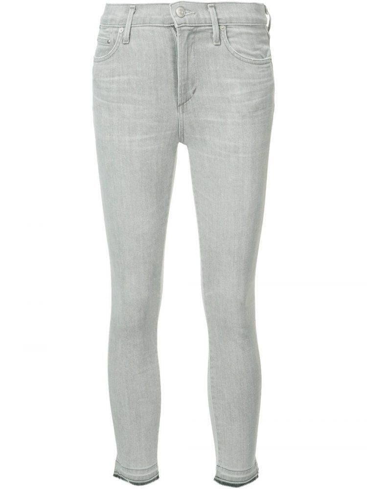 Image Citizens Of Humanity Super Skinny Cropped Jeans - Grijs