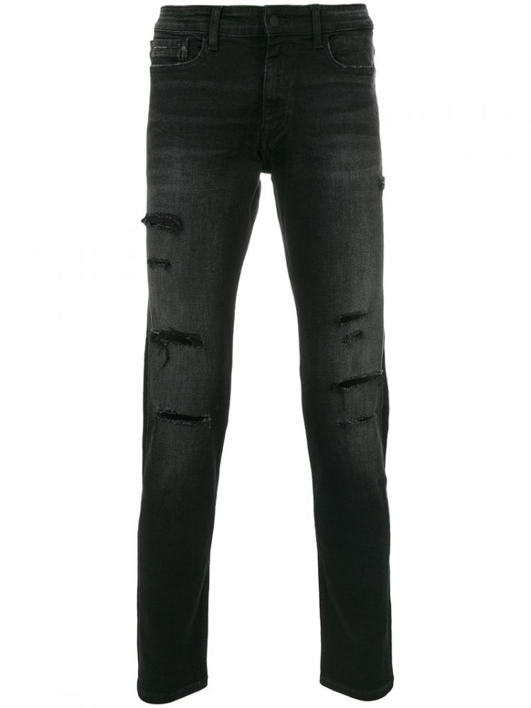 Image Ck Jeans - Distressed Jeans - Men - Cotton/polyester/spandex/elastane/modal - 31