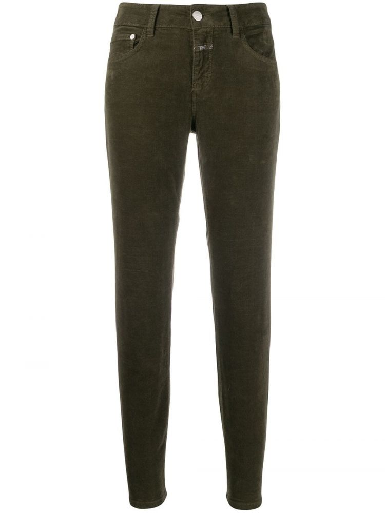 Image Closed Cropped Jeans - Groen