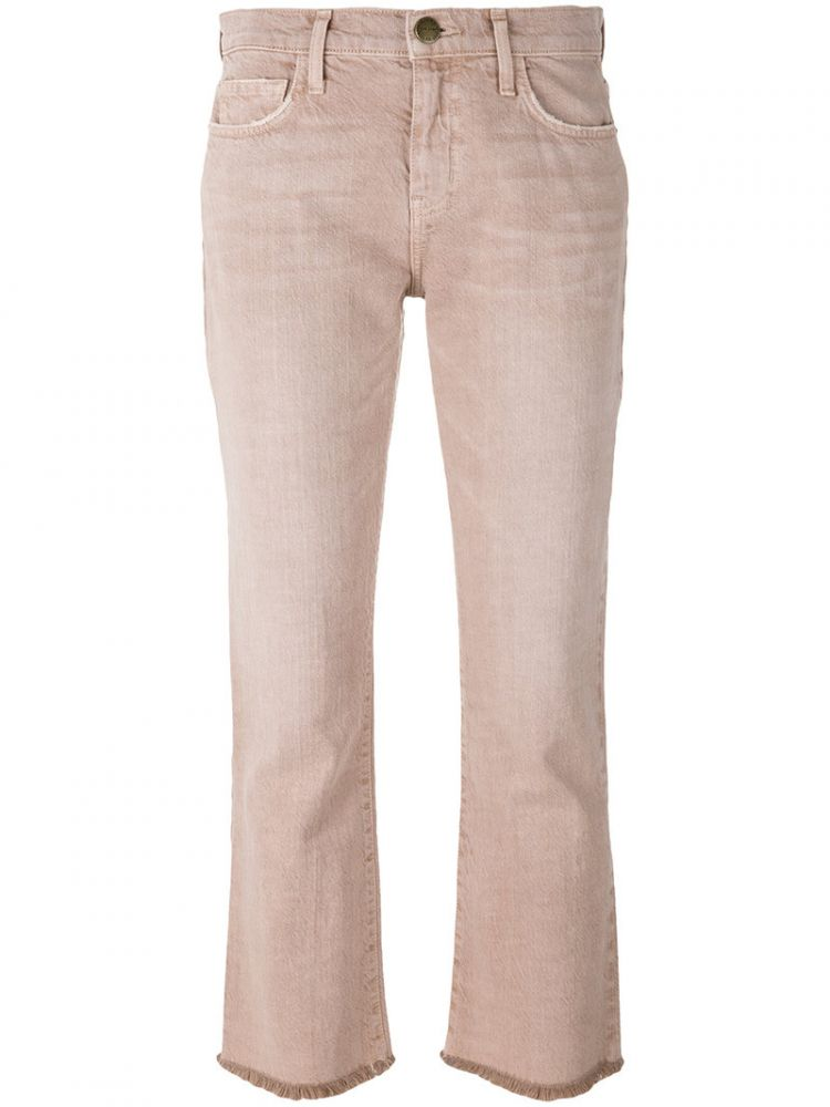 Image Current/elliott - Cropped Jeans - Women - Cotton/lyocell - 30