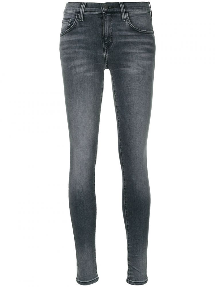 Image Current/elliott - The Highwaist Ankle Skinny Jeans - Women - Cotton/polyester/spandex/elastane - 28