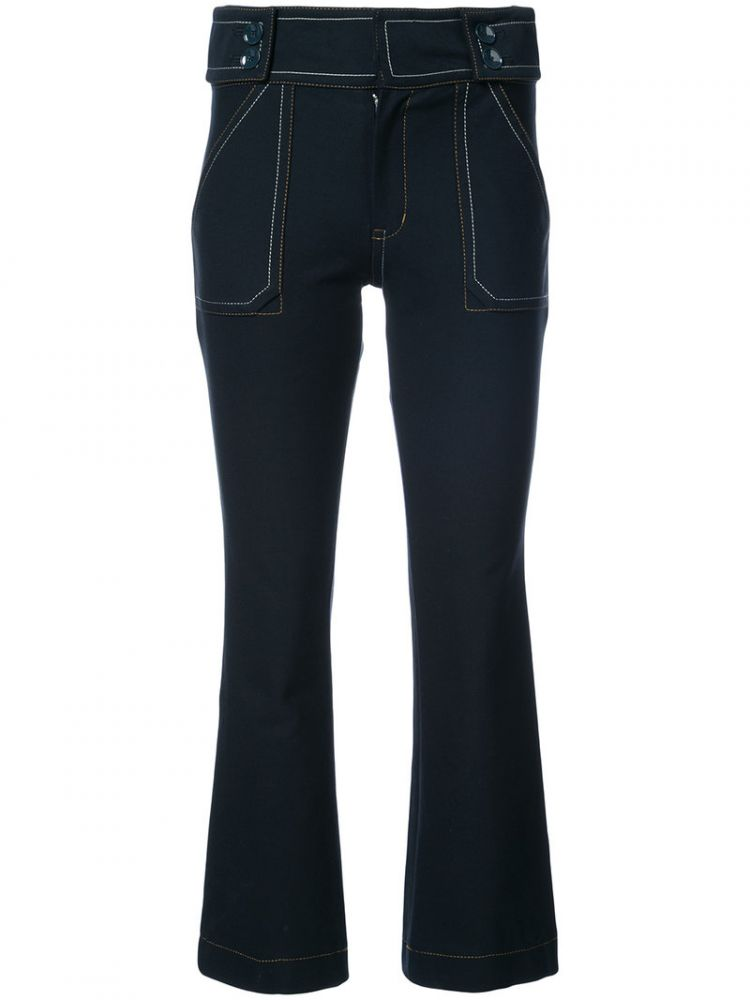 Image Derek Lam 10 Crosby - Cropped Bootcut Jeans - Women - Cotton/elastodiene - 6