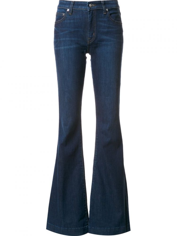 Image Derek Lam 10 Crosby - Noha Mid-rise Sexy Flare Jeans - Women - Cotton/polyester/spandex/elastane - 28