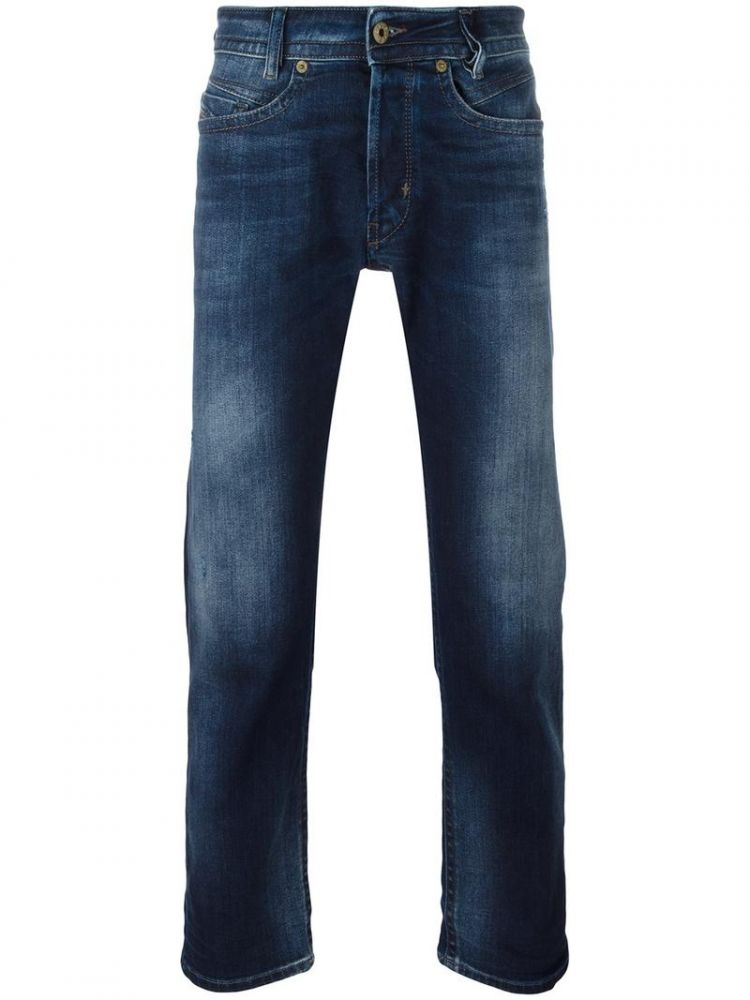Image Diesel - Gradient Detail Slim-fit Jeans - Men - Cotton/polyester/spandex/elastane - 33/30