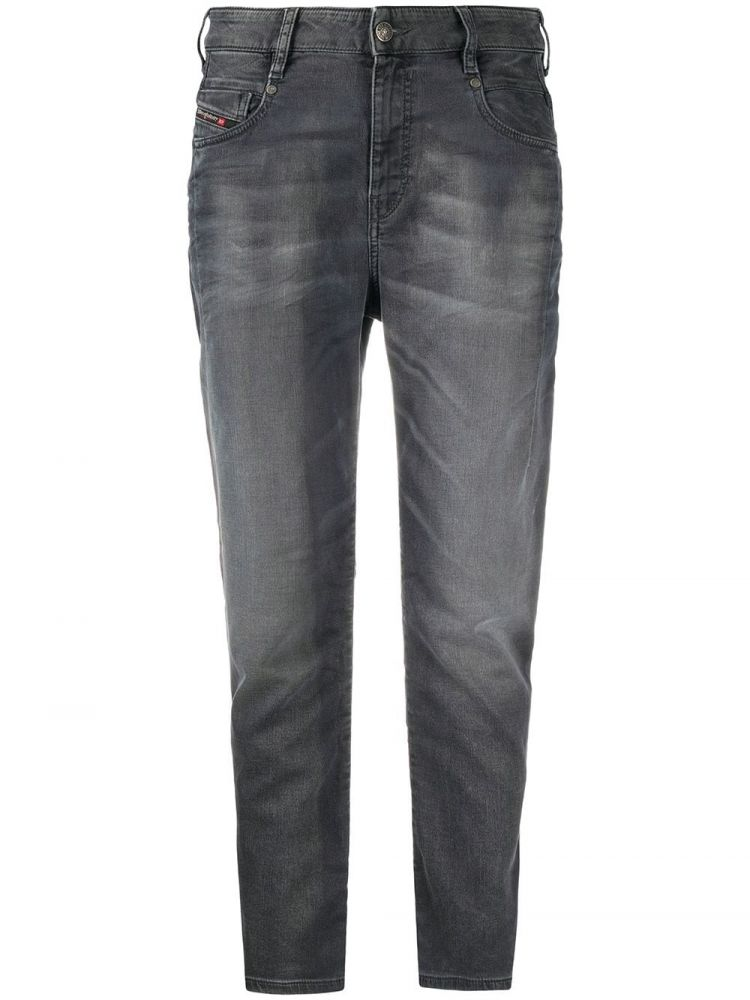 Image Diesel High-rise Tapered Jeans - Grijs