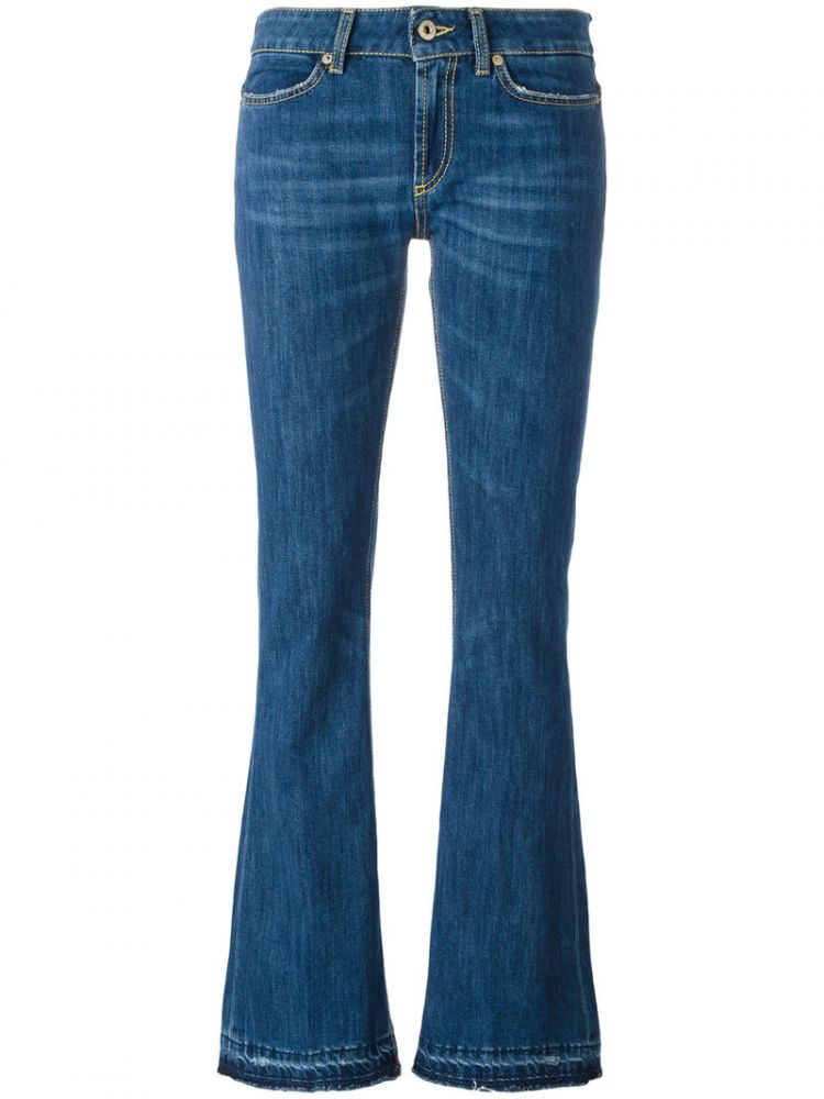 Image Dondup - Flared Jeans - Women - Cotton/polyester/spandex/elastane - 31