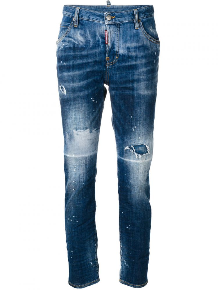 Image Dsquared2 - Distressed Cool Girl Jeans - Women - Cotton/spandex/elastane - 44