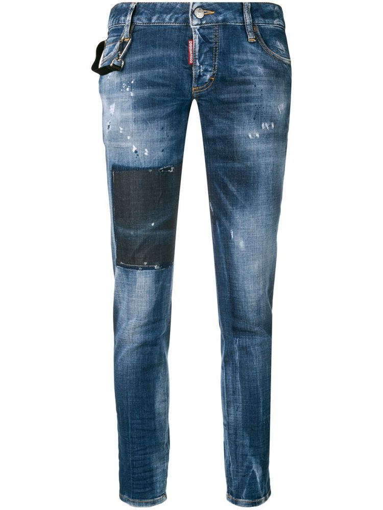 Image Dsquared2 Jennifer Cropped Jeans - Blauw