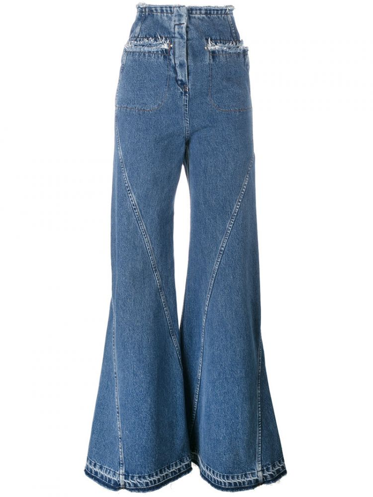 Image Esteban Cortazar - High Waisted Flared Jeans - Women - Cotton - 40