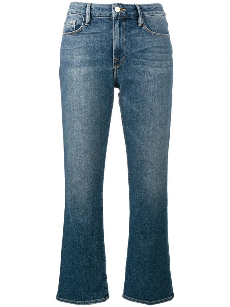 Image Frame Denim - Flared Cropped Jeans - Women - Cotton/spandex/elastane/modal - 32