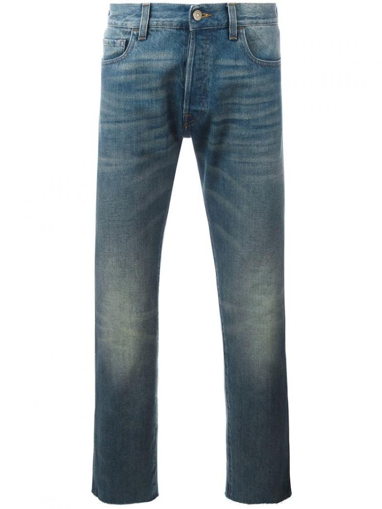 Image Gucci - Cropped Jeans With Tiger Patch - Men - Cotton - 32