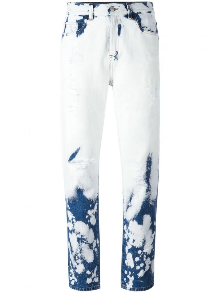 Image Gucci - Hand Bleached Relaxed-fit Jeans - Women - Cotton - 26
