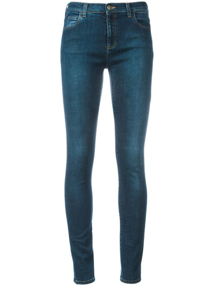 Image Gucci - Loved Embroidered Jeans - Women - Cotton/polyester/spandex/elastane - 26