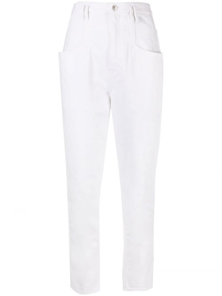 Image Isabel Marant High Waist Jeans - Wit