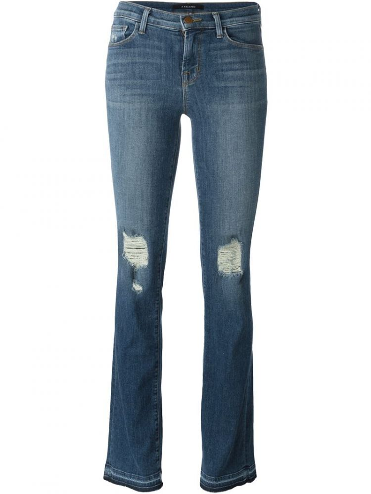 Image J Brand - Distressed Bootcut Jeans - Women - Cotton/polyester/spandex/elastane - 25