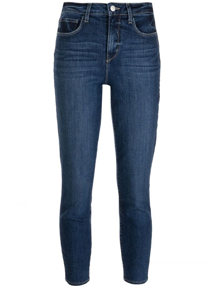 Image L'agence Cropped Jeans - Blauw