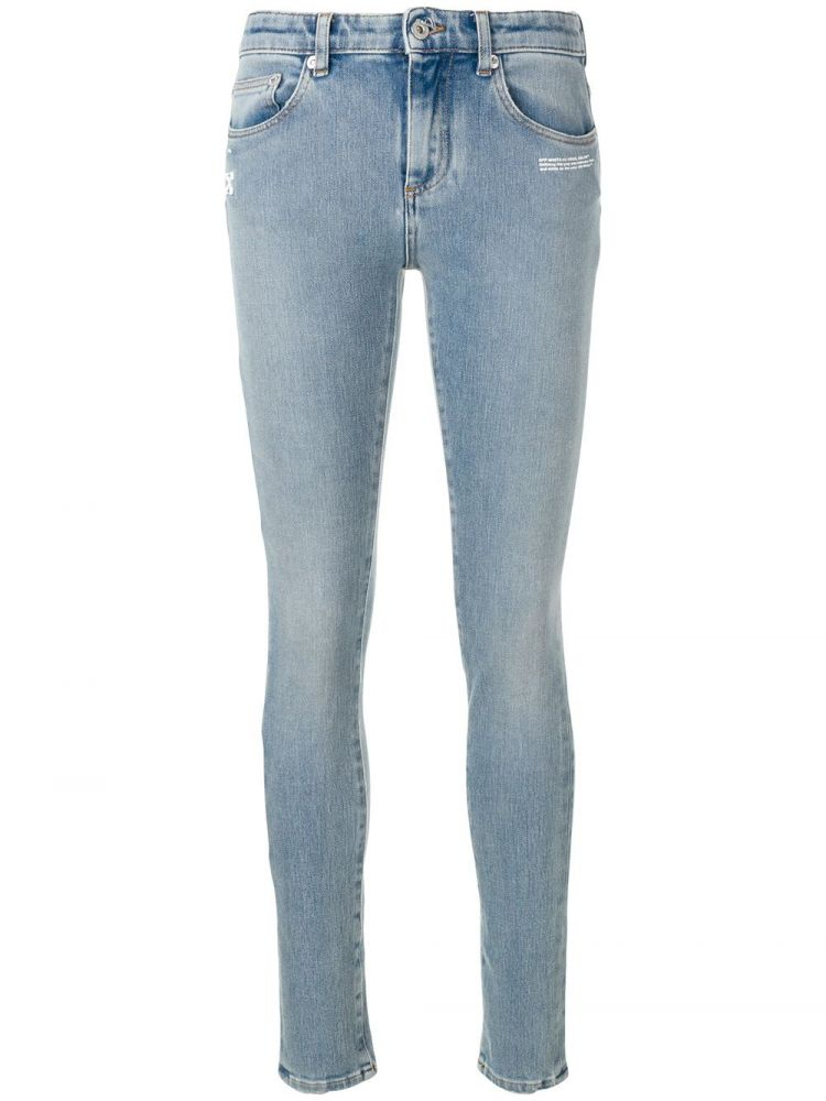Image Off-white Mid Rise Skinny Jeans - Blauw