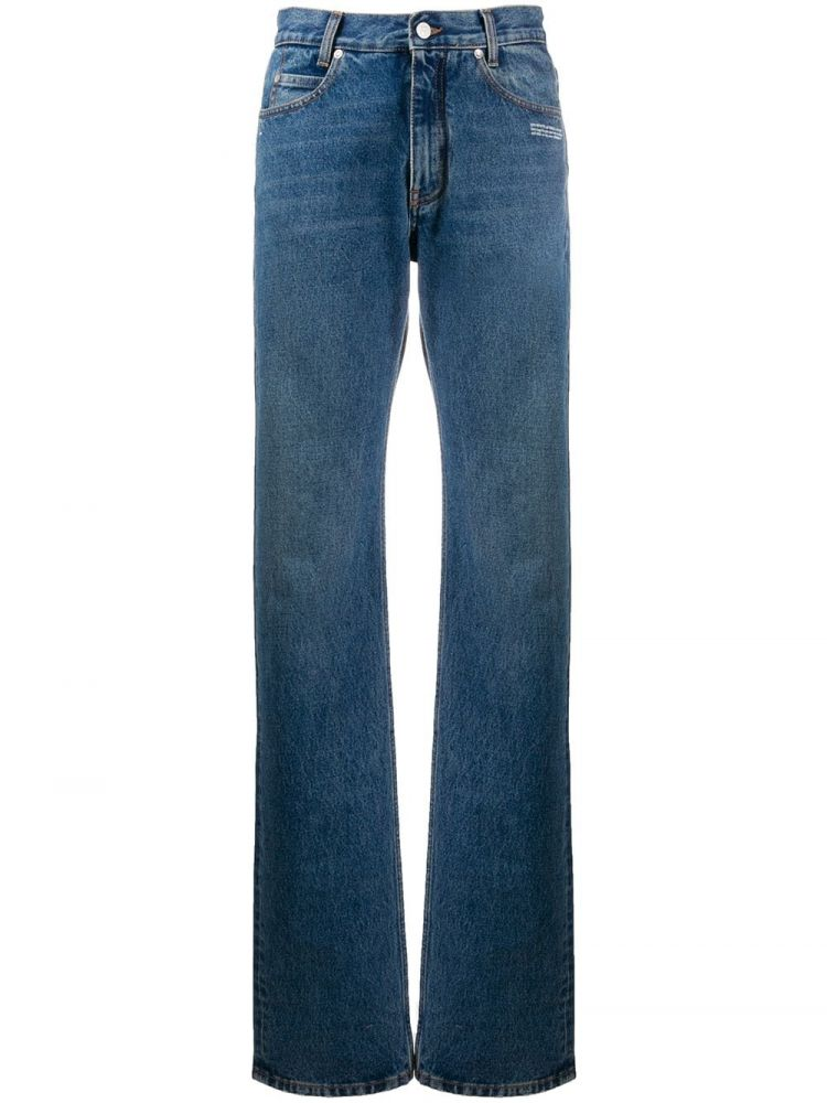 Image Off-white Mid Waist Jeans - Blauw