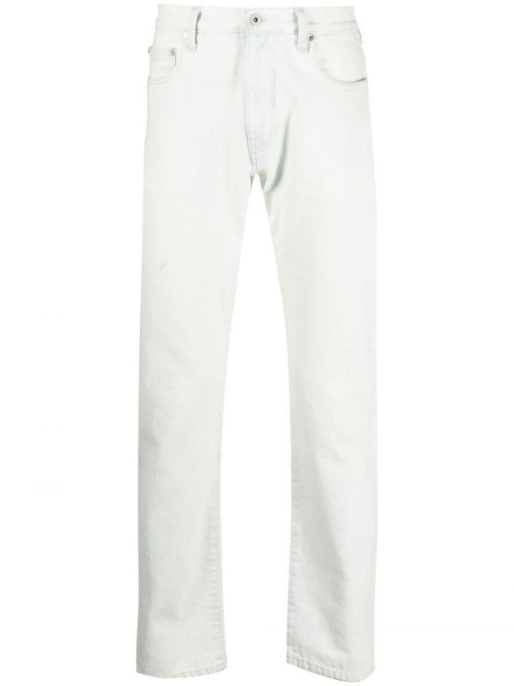 Image Off-white Slim-fit Jeans - Nude