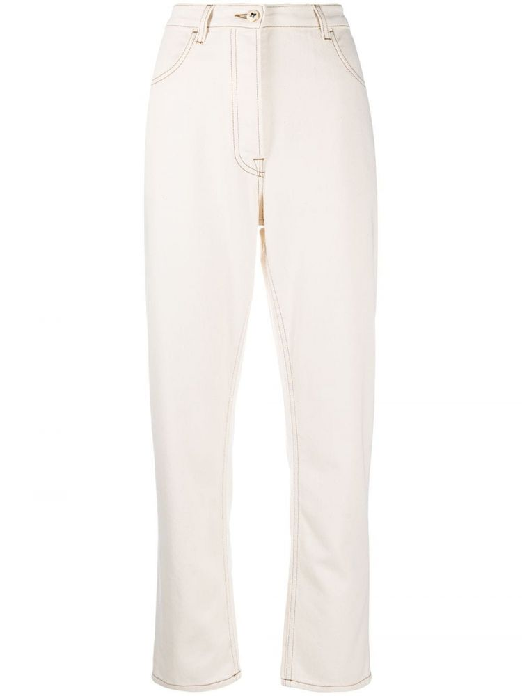 Image Ports 1961 High-waist Straight Jeans - Nude