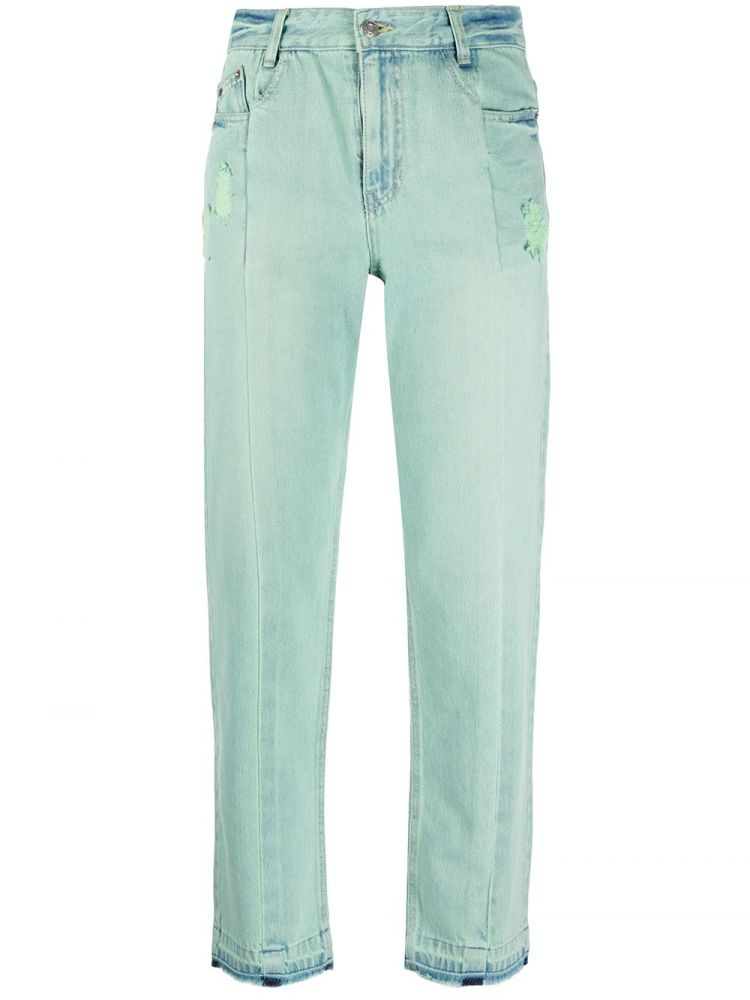 Image Sjyp Cropped Jeans - Groen