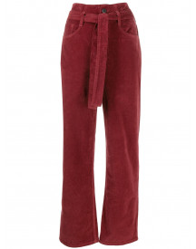 3x1 Kelly High Waist Jeans - Rood afbeelding