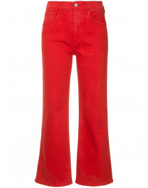 3x1 Cropped Jeans - Rood afbeelding