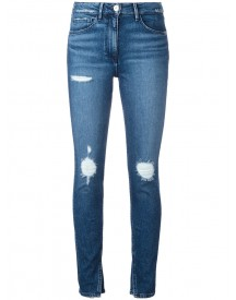 3x1 - Slit Ankles Cropped Jeans - Women - Cotton/polyamide/spandex/elastane - 25 afbeelding