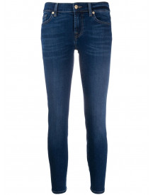 7 For All Mankind Cropped Jeans - Blauw afbeelding