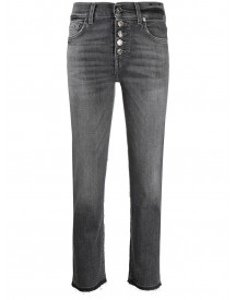 7 For All Mankind Cropped Jeans - Grijs afbeelding