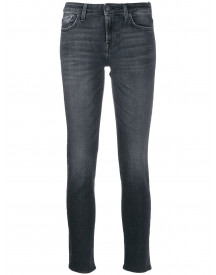 7 For All Mankind Cropped Jeans - Zwart afbeelding