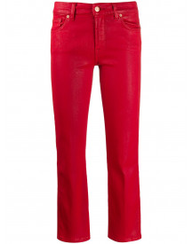 7 For All Mankind Denim Jeans - Rood afbeelding