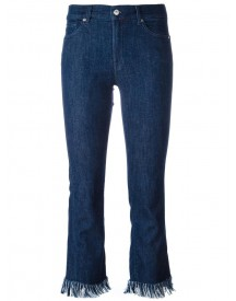 7 For All Mankind - Raw Hem Cropped Jeans - Women - Cotton/polyester/spandex/elastane/modal - 27 afbeelding