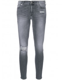 7 For All Mankind - Sequin Patch Skinny Jeans - Women - Cotton/polyester/spandex/elastane - 26 afbeelding