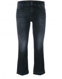 7 For All Mankind - Stonewashed Cropped Jeans - Women - Cotton/polyester/spandex/elastane - 31 afbeelding