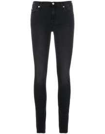 7 For All Mankind - Super Skinny Washed Jeans - Women - Cotton/polyester/spandex/elastane/viscose - 24 afbeelding