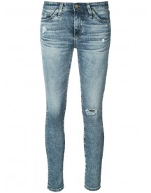 Ag Jeans - Distressed Skinny Jeans - Women - Cotton/polyurethane - 30 afbeelding