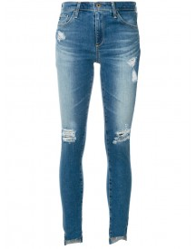 Ag Jeans - Ripped Step Hem Jeans - Women - Cotton/polyurethane - 27 afbeelding