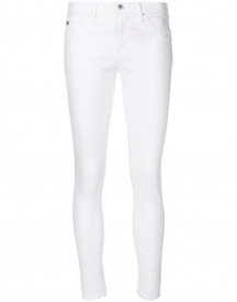 Ag Jeans Super Skinny Cropped Jeans - Wit afbeelding