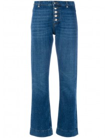 Alexa Chung - Flare Button Jeans - Women - Cotton - 28 afbeelding