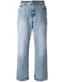 Alexander Mcqueen - Distressed Boyfriend Jeans - Women - Cotton - 38 afbeelding