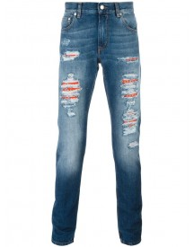Alexander Mcqueen - Distressed Slim-fit Jeans - Men - Cotton - 52 afbeelding