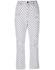 Alexander Wang - Checkered Straight Jeans - Women - Cotton - 27 afbeelding