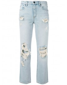 Alexander Wang - Destroyed Cult Straight-leg Jeans - Women - Cotton - 28 afbeelding